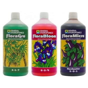 GHE Flora Series 1L Nutrient Kit Hard Water