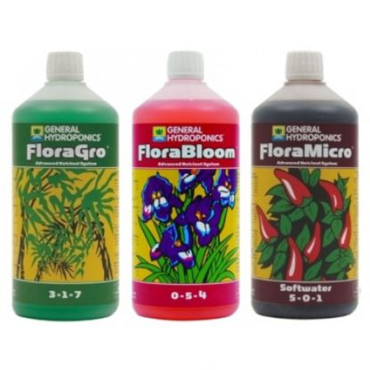 GHE Flora Series 1L Nutrient Kit Soft Water