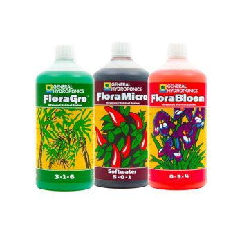 GHE Flora Series 500ml Nutrient Kit Soft Water