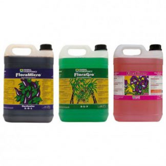 GHE Flora Series 5L Nutrient Kit Hard Water