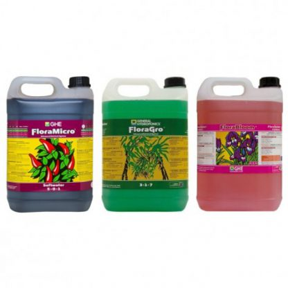GHE Flora Series 5L Nutrient Kit Soft Water