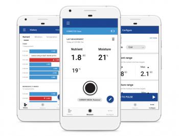 Bluelab Pulse Meter Phone App Screens