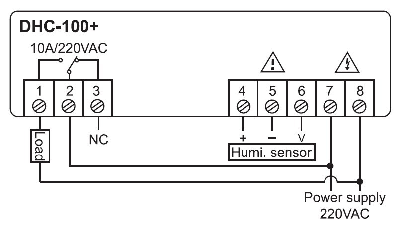 Digital Humidity Controller wiring diagram