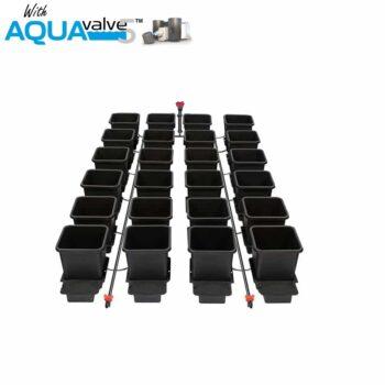 24Pot System AQUAValve5 with 15L Pots without Tank