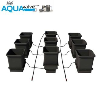 9Pot System AQUAValve5 with 15L Pots without Tank