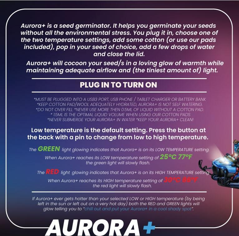 Aurora Plus Instructions